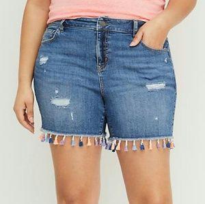 Lane Bryant Size 12 Jean Shorts